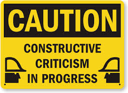 Caution Constructive Criticism images