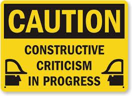 Caution Constructive Criticism images